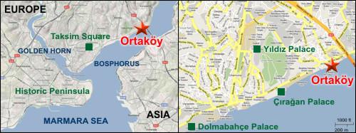 Ortakoy Map