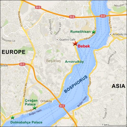 Istanbul Bebek - Map